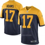 Camiseta Green Bay Packers Adams Negro Amarillo Nike Game NFL Nino