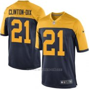 Camiseta Green Bay Packers Clinton Dix Negro Nike Game NFL Amarillo Nino