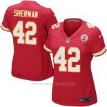 Camiseta Kansas City Chiefs Sherman Rojo Nike Game NFL Mujer