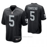 Camiseta NFL Game Hombre Oakland Raiders Johnny Townsend Negro