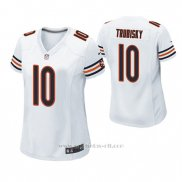 Camiseta NFL Game Mujer Chicago Bears Mitchell Trubisky Blanco