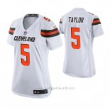 Camiseta NFL Game Mujer Cleveland Browns Tyrod Taylor Blanco
