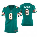 Camiseta NFL Game Mujer Miami Dolphins Brock Osweiler Throwback Verde