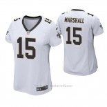 Camiseta NFL Game Mujer New Orleans Saints Brandon Marshall Blanco