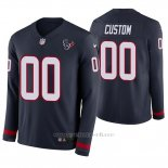 Camiseta NFL Hombre Houston Texans Personalizada Azul Therma Manga Larga