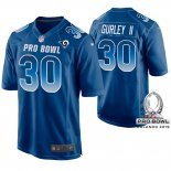 Camiseta NFL Hombre St Louis Rams Todd Gurley NFC 2019 Pro Bowl Azul