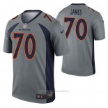Camiseta NFL Legend Denver Broncos Ja'wuan James Inverted Gris