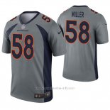 Camiseta NFL Legend Hombre Denver Broncos 58 Von Miller Inverted Gris