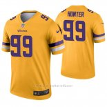 Camiseta NFL Legend Hombre Minnesota Vikings 99 Danielle Hunter Inverted Oro