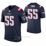 Camiseta NFL Legend Hombre New England Patriots John Simon Azul Color Rush