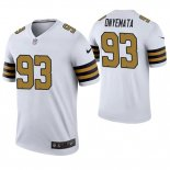 Camiseta NFL Legend Hombre New Orleans Saints David Onyemata Blanco Color Rush
