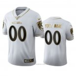 Camiseta NFL Limited Baltimore Ravens Personalizada Golden Edition Blanco