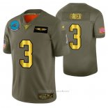 Camiseta NFL Limited Carolina Panthers Will Grier 2019 Salute To Service Verde