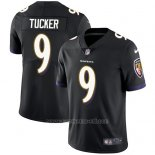 Camiseta NFL Limited Hombre Baltimore Ravens 9 Justin Tucker Negro Alterno Stitched Vapor Untouchable