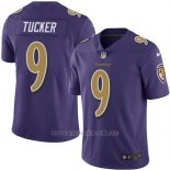 Camiseta NFL Limited Hombre Baltimore Ravens 9 Justin Tucker Violeta Stitched Rush