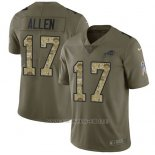 Camiseta NFL Limited Hombre Buffalo Bills 17 Josh Allen Stitched 2017 Salute To Service