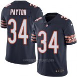 Camiseta NFL Limited Hombre Chicago Bears 34 Walter Payton Azul Stitched Vapor Untouchable