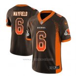 Camiseta NFL Limited Hombre Cleveland Browns Baker Mayfield Marron 2018 Drift Fashion Color Rush