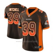 Camiseta NFL Limited Hombre Cleveland Browns Terrance Mitchell Marron 2018 Drift Fashion Color Rush