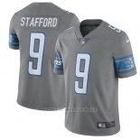 Camiseta NFL Limited Hombre Detroit Lions 9 Matthew Stafford Gris Stitched Rush