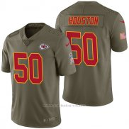 Camiseta NFL Limited Hombre Kansas City Chiefs 50 Justin Houston 2017 Salute To Service Verde