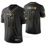 Camiseta NFL Limited Hombre New England Patriots Julian Edelman Golden Edition Negro
