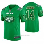 Camiseta NFL Limited Hombre New York Jets Sam Darnold St. Patrick's Day Verde