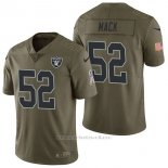 Camiseta NFL Limited Hombre Oakland Raiders 52 Khalil Mack 2017 Salute To Service Verde