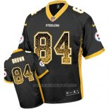 Camiseta NFL Limited Hombre Pittsburgh Steelers 84 Antonio Azul Stitched Drift Fashion