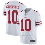 Camiseta NFL Limited Hombre San Francisco 49ers 10 Jimmy Garoppolo Blanco Stitched Vapor Untouchable
