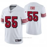 Camiseta NFL Limited Hombre San Francisco 49ers Dee Ford Blanco Color Rush