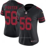 Camiseta NFL Limited Mujer San Francisco 49ers 56 Foster Alternate Negro
