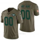 Camiseta NFL Limited New York Jets Personalizada 2017 Salute To Service Verde