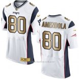 Camiseta New England Patriots Amendola Blanco Nike Gold Elite NFL Hombre