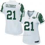 Camiseta New York Jets Gilchrist Blanco Nike Game NFL Mujer