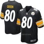 Camiseta Pittsburgh Steelers Green Negro Nike Game NFL Nino