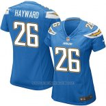 Camiseta San Diego Chargers Hayward Azul Nike Game NFL Mujer