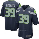 Camiseta Seattle Seahawks Browner Azul Oscuro Nike Game NFL Nino