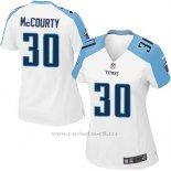 Camiseta Tennessee Titans McCourty Blanco Nike Game NFL Mujer
