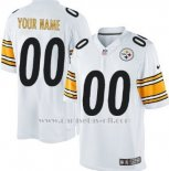 Camisetas NFL Limited Hombre Pittsburgh Steelers Personalizada Blanco