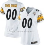 Camisetas NFL Mujer Hombre Pittsburgh Steelers Personalizada Blanco