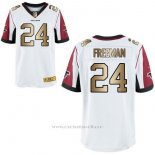 Camiseta Atlanta Falcons Freeman Blanco Nike Gold Elite NFL Hombre