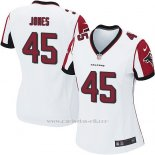 Camiseta Atlanta Falcons Jones Blanco Nike Game NFL Mujer