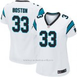 Camiseta Carolina Panthers Boston Blanco Nike Game NFL Mujer