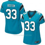 Camiseta Carolina Panthers Boston Lago Azul Nike Game NFL Mujer