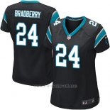 Camiseta Carolina Panthers Bradberry Negro Nike Game NFL Mujer