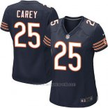 Camiseta Chicago Bears Carey Blanco Negro Nike Game NFL Mujer
