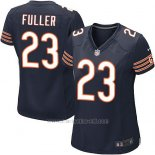 Camiseta Chicago Bears Fuller Blanco Negro Nike Game NFL Mujer