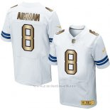 Camiseta Dallas Cowboys Aikman Blanco Nike Gold Elite NFL Hombre