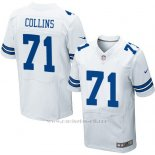 Camiseta Dallas Cowboys Collins Blanco Nike Elite NFL Hombre